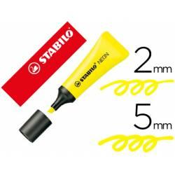 Rotulador stabilo fluorescente amarillo neon