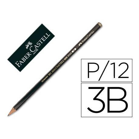 Lapices de grafito de Faber Castell 9000 3B