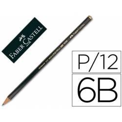 Lapices de grafito marca Faber Castell 9000 6B