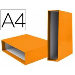 Caja archivador marca Liderpapel de palanca Din A4 documenta Naranja