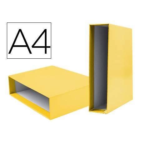 Caja archivador marca Liderpapel de palanca Din A4 documenta Amarillo