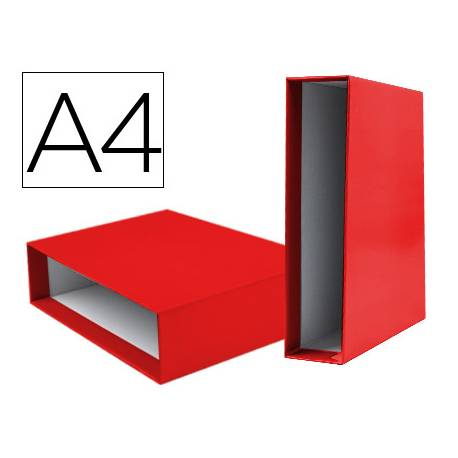 Caja archivador marca Liderpapel de palanca Din A4 documenta Rojo