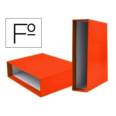 Caja archivador marca Liderpapel de palanca Folio documenta Naranja