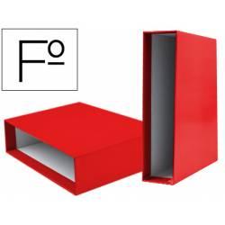 Caja archivador marca Liderpapel de palanca Folio documenta Rojo