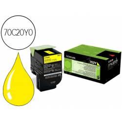 Toner Lexmark 70C20Y0 color amarillo