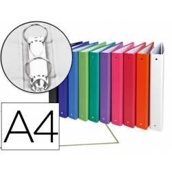 Carpeta Exacompta 2 anillas 30 mm redondas A4 carton forrado de colores surtidos