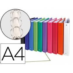 Carpeta Exacompta 4 anillas 30 mm redondas A4 carton forrado de colores surtidos