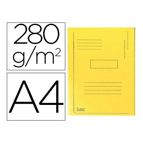 Subcarpeta cartulina Exacompta A4 amarilla 280g/m2 reciclada 2 solapas interiores