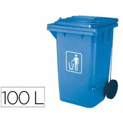 Papelera contenedor Q-connect plastico de 100L azul