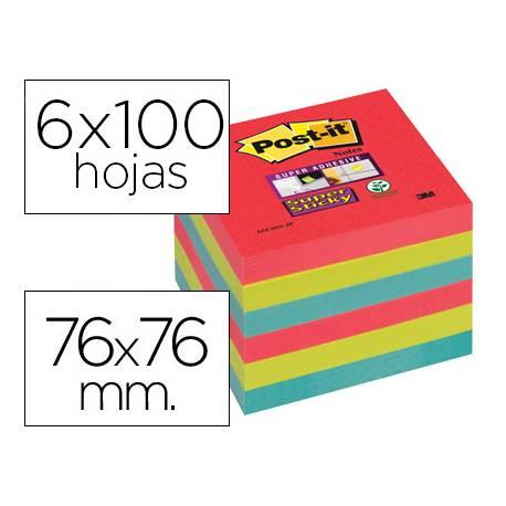 Post-it ® Bloc notas quita y pon super sticky 76x76 mm