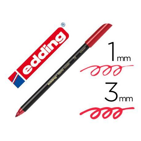 Rotulador Edding 1200 rojo metalizado nº 72
