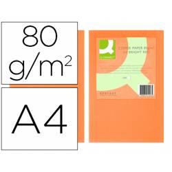 Papel color Q-connect tamaño A4 80g/m2 pack 500 hojas Naranja intenso