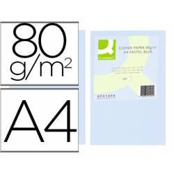 Papel color Q-connect tamaño A4 80g/m2 pack 500 hojas Celeste