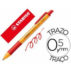 Boligrafo Stabilo pointball rojo 0,5 mm