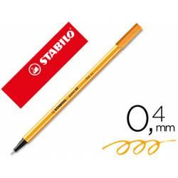 Rotulador Stabilo point 88/054 naranja neon