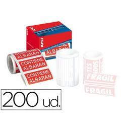 Etiquetas marca Apli contiene albarán 50x100 mm rollo con 200 unidades