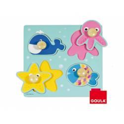 Puzzle a partir de 1 año Animales del mar Goula
