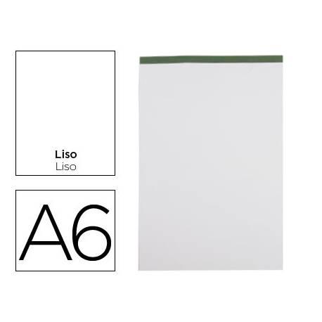 Bloc de notas Din A6 encolado marca Liderpapel liso