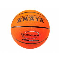 Balon de baloncesto caucho Naranja Nº6 Amaya