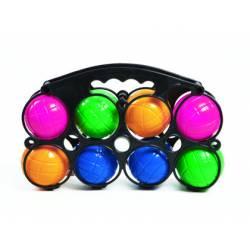 Petanca Plástico 8 bolas con boliche Amaya