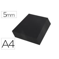 Carton pluma Liderpapel doble cara negro Din A4 Espesor 5 mm