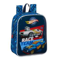 MOCHILA ESCOLAR SAFTA HOT WHEELS GUARDERIA ADAPTABLE A CARRO 220X100X270 MM