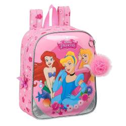 "MOCHILA ESCOLAR SAFTA PRINCESAS ""EXPRESS YOURSELF"" GUARDERIA ADAPTABLE A CARRO 220X100X270 MM"