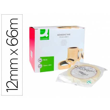 Cinta adhesiva marca Q-Connect 66 mt x 12 mm encelofanada
