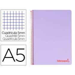 Bloc Liderpapel DIN A5 micro wonder crafty liso 5mm tapa plástico 90 g/m2 color violeta