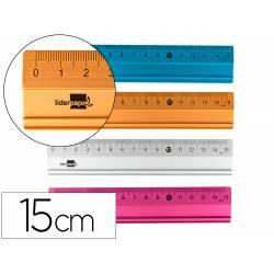 Reglas de 15 cm aluminio colores surtidos