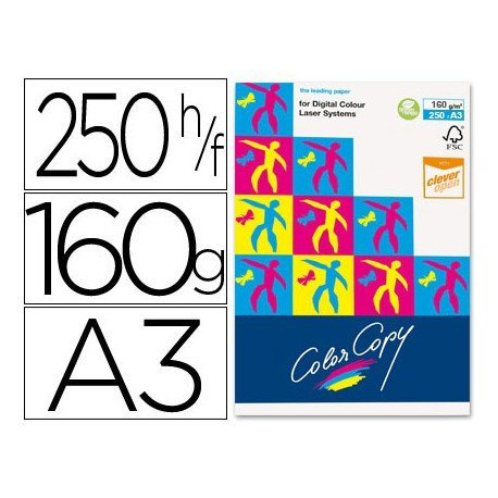 Papel multifuncion Mondi Color Copy A3 160 gr/m2 Satinado