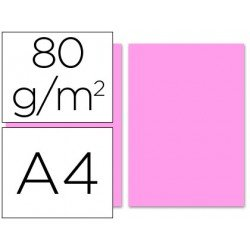 Papel color Liderpapel color rosa A4 80 g/m2