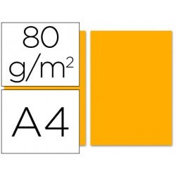 Papel color Liderpapel color naranja A4 80 g/m2 100 hojas