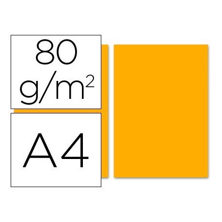 Papel color Liderpapel color naranja A4 80 g/m2