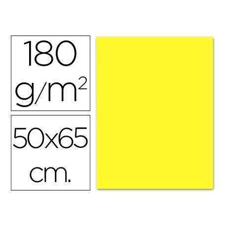 Cartulina Liderpapel color amarillo 180 g/m2