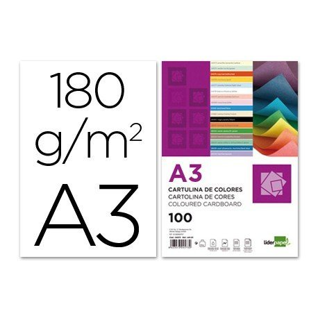 Cartulina Liderpapel color blanco a3 180 g/m2