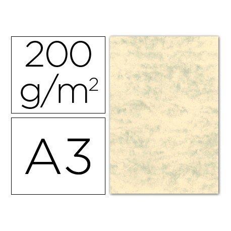 Cartulina marmoleada DIN A3 color Crema claro