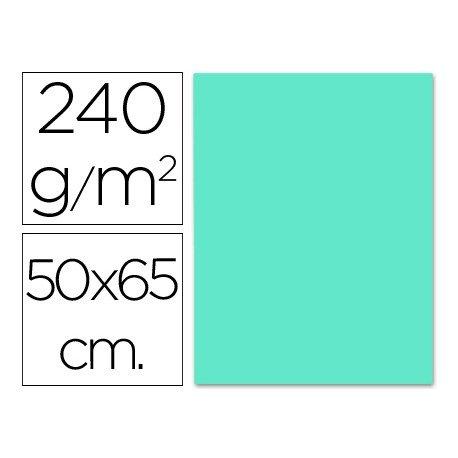 Cartulina Liderpapel color azul turquesa 240 g/m2