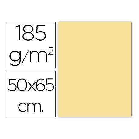 Cartulina Guarro crema 500 x 650 mm de 185 g/m2