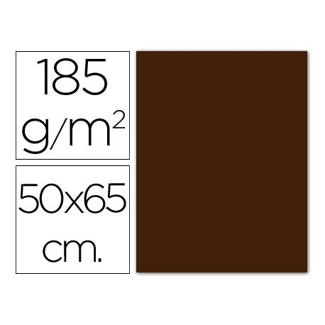 Cartulina Guarro marron 500 x 650 mm de 185 g/m2