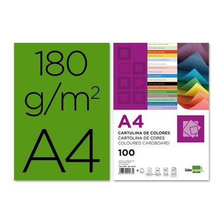 Cartulina Liderpapel color verde abeto a4 180 g/m2