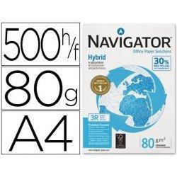 Papel multifuncion A4 Navigator Hybrid, 80 g/m2