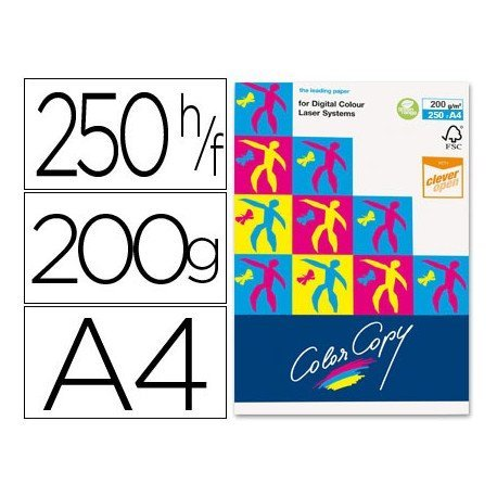 Papel multifuncion Mondi Color Copy A4 200 gr/m2 Satinado
