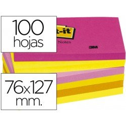 Bloc quita y pon Post-it ® neon 127 x 76 mm
