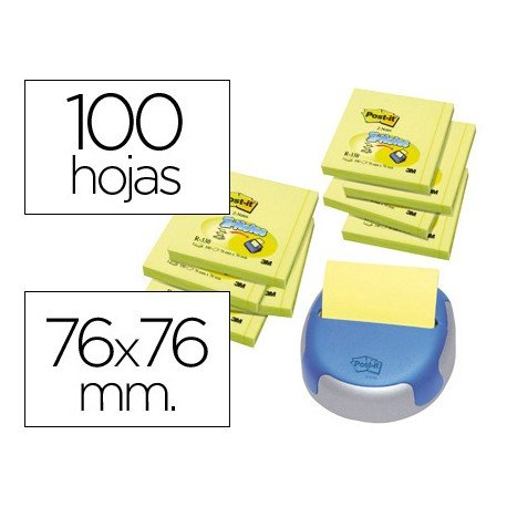 Bloc notas adhesivas Post-it ® Z-Notes 76 x 76 mm.