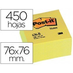 Post-it ® Bloc de notas adhesivas de quita y pon color amarillo