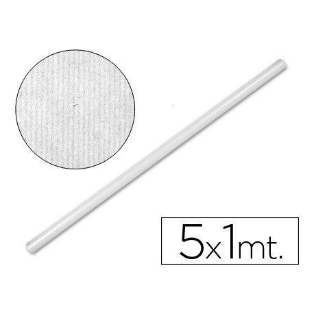 Bobina papel tipo kraft Liderpapel 5 x 1 m blanco