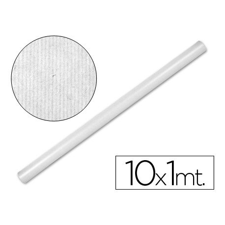 Bobina papel tipo kraft Liderpapel 10 x 1 m blanco