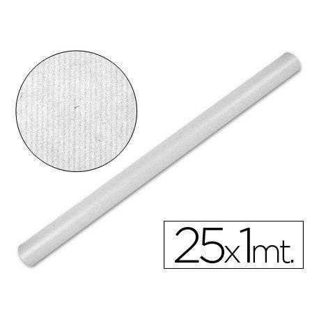 Bobina papel tipo kraft Liderpapel 25 x 1 m blanco