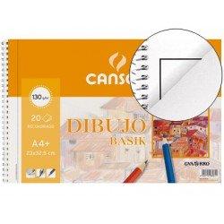 Bloc de dibujo DIN A4 espiral Basik Canson Con Recuadro